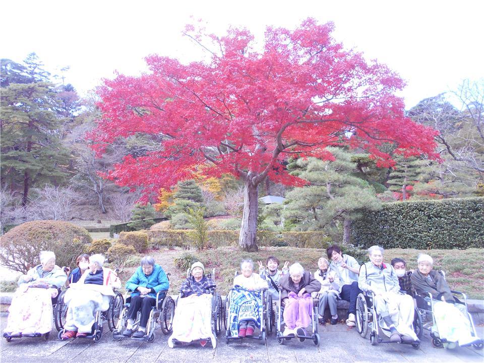 紅葉狩り -那須町の老人ホ-ム 寿山荘那須-